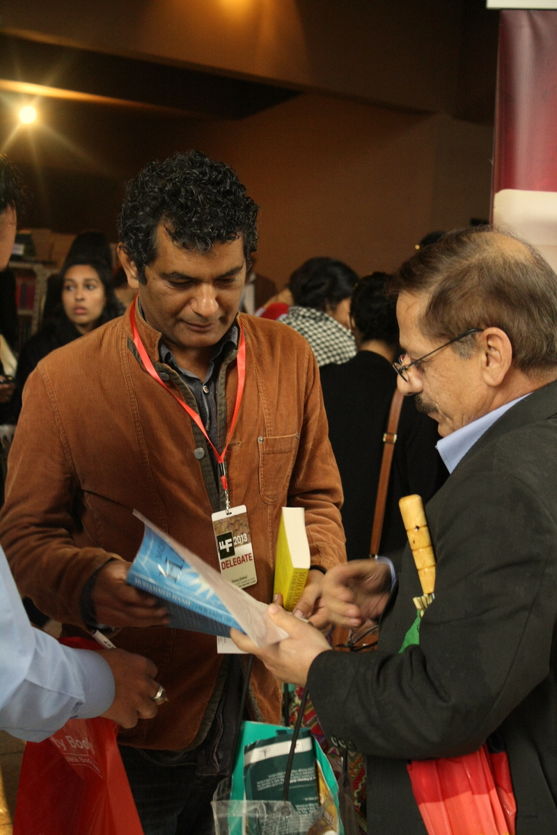 Mohammad Hanif at LLF - Photo: Sonya Rehman