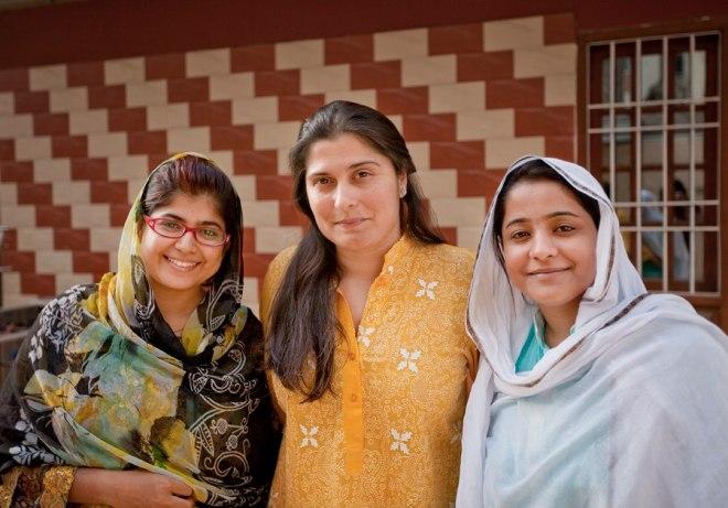 L-R - Khalida Brohi, Sharmeen Obaid-Chinoy and Humaira Bachal - Photo by Nadir Siddiqui