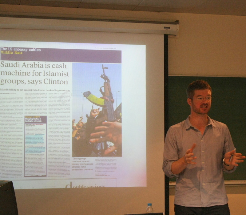 Declan Walsh at his talk at LUMS - Photo by: Sonya Rehman