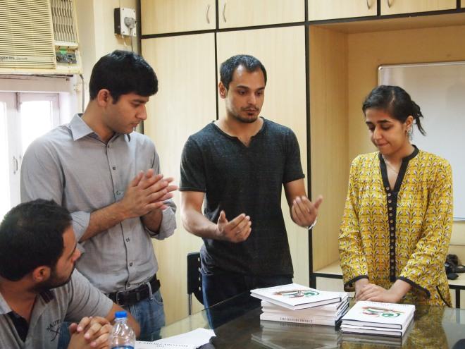 L-R: Ayyaz, Qasim and Zoya