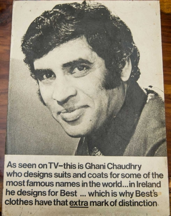 A 1970s Irish advertisement touting Chaudry's skills demonstrates how his renown had spread throughout the British Isles. Photo by: Saad Sarfraz Sheikh