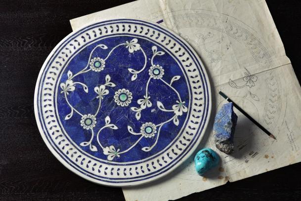 An Iznik filigree tabletop. Photo: Omer Gilani @ Happa Studio