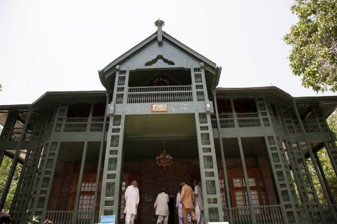 Quaid-e-Azam Muhammad Ali Jinnah's house in Ziarat, before the attack. Photo: Madiha Aijaz