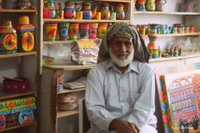 Haji Sahib in his shop. Photo: Sonya Rehman