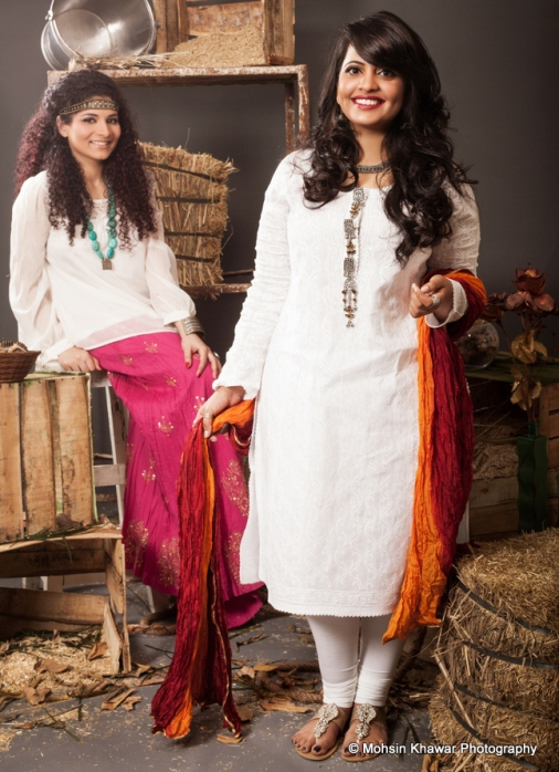 saba sharjeal - left - and zainab chughtai on the right