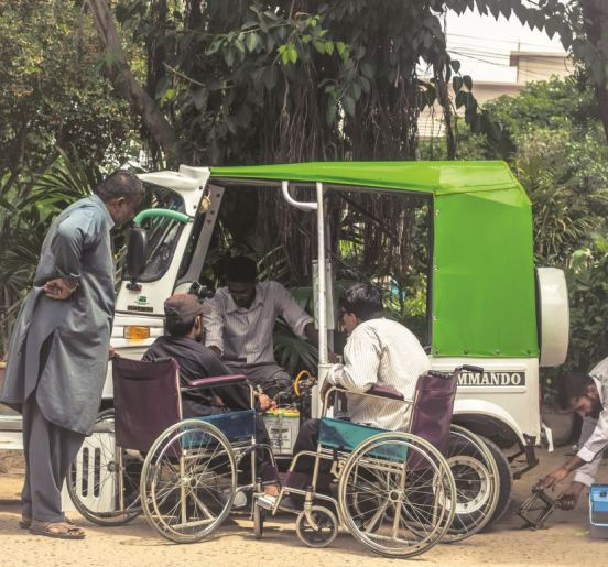 6.The project's drivers are also educated on the mechanical aspect of their rickshaws, so that they may handle mechanical hitches during their work hours. Photo: NOWPDP