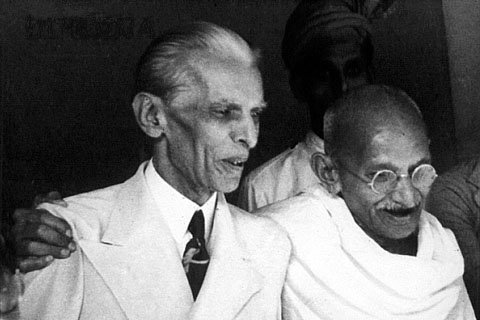 Jinnah and Gandhi (Sept. '44) Photo: Wikipedia