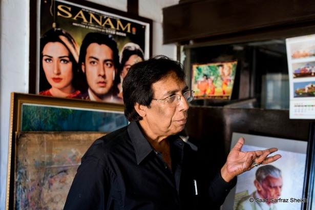 S Iqbal in his studio - Photo: Saad Sarfraz Sheikh