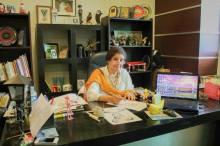 Nigar Nazar in her office - Photo: Gogi Studios