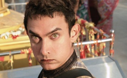 Aamir Khan in a movie still from the flick, 'PK.'