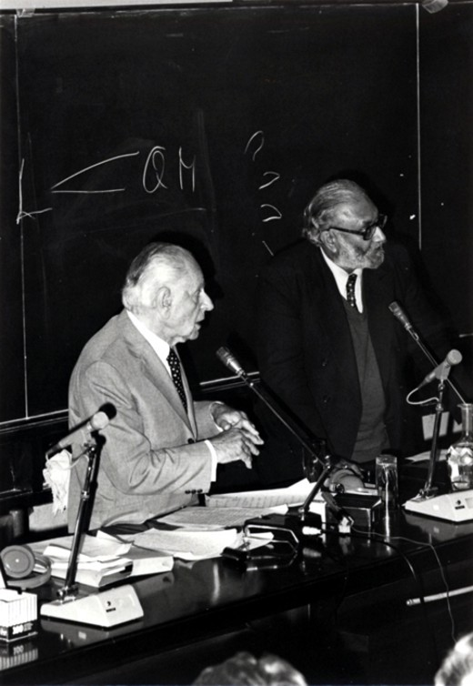 Dr. Abdus Salam with Philosopher Karl R. Popper, 1983. Photo: ICTP