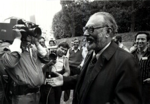 Dr. Abdus Salam - The Nobel Prize announcement, 1979. Photo: ICTP