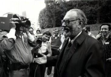 Dr. Abdus Salam - The Nobel Prize announcement, 1979. Photo: ICTP