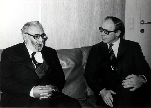 Dr. Abdus Salam with Hans Blix, IAEA Director General, 1981. Photo: ICTP