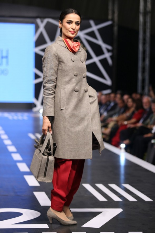Yasmeen Sheikh's coats are approved by PIA! Photo: Catalyst PR