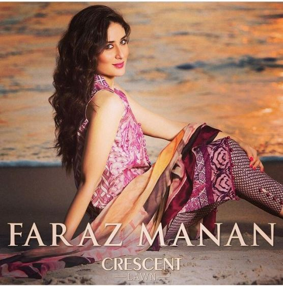 Kareena Kapoor models for Faraz Manan