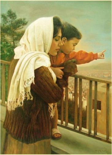 Painting by Malek Fazeli