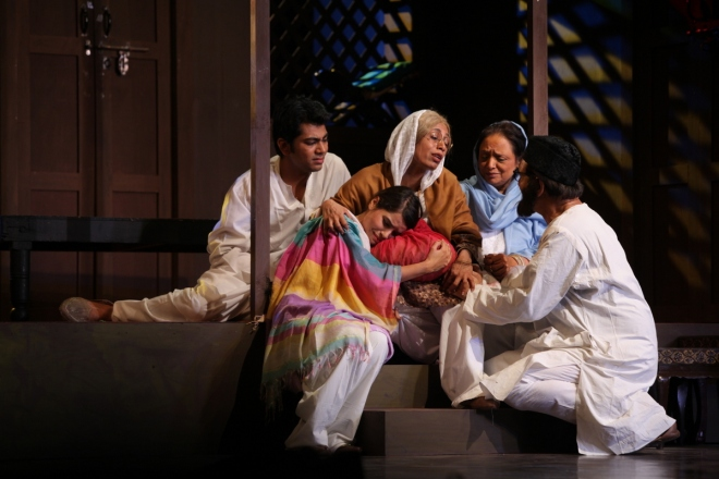 A scene from the play, Jis Lahore Nahin Dekhya - staged in Mumbai