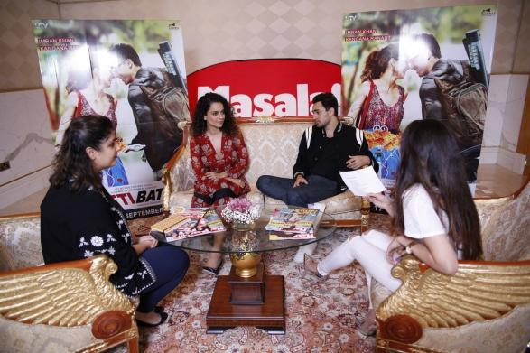 Interviewing Kangana Ranaut and Imran Khan in Dubai earlier this month.