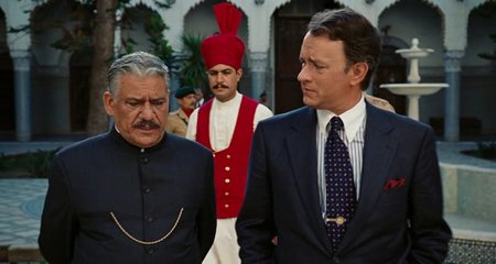 Om Puri and Tom Hanks in Charlie Wilson's War
