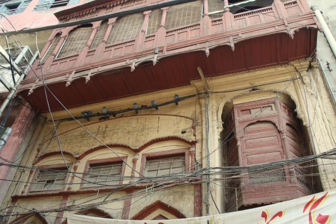 Walking inside Lahore's Mochi Gate. (Photo by Sonya Rehman)