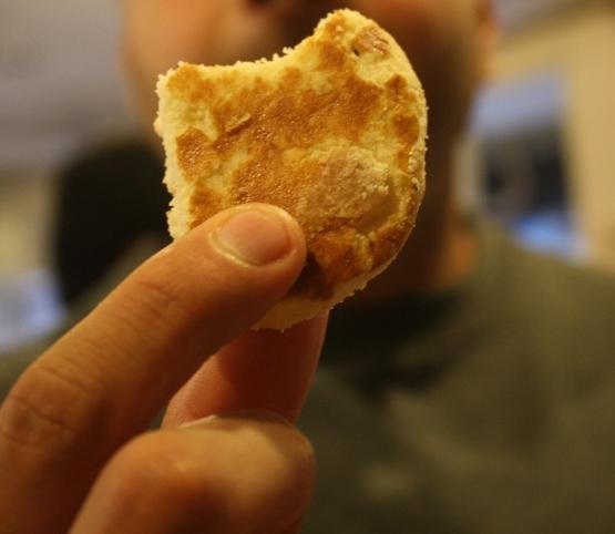 Khalifa Bakers' delicious naan khataai. (Photo by Sonya Rehman)