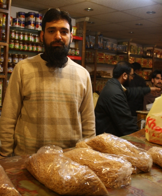 Umer Farooq, Baba Umer's great-great-grandson currently manages the bakery along with his father. (Photo by Sonya Rehman)