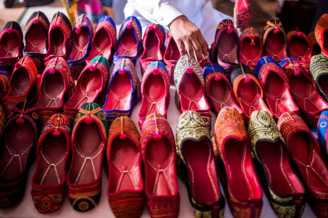 Ethnic footwear at the Daachi Exhibition. Photo by Saad Sarfraz Sheikh.