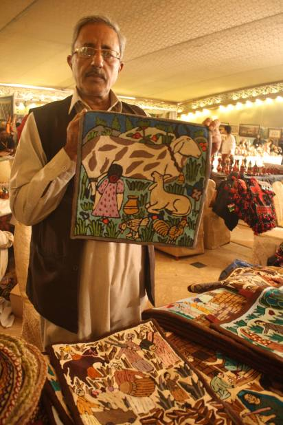 A vendor at the Daachi Exhibition. Photo by Sonya Rehman.