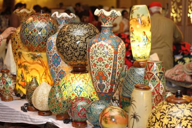 Stunning lamps for sale at the Daachi Exhibition. Photo courtesy of the Daachi Foundation.